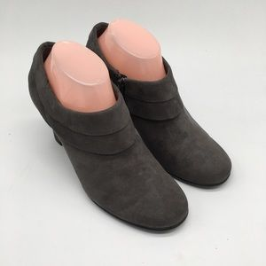 Aerosoles Gray suede heeled booties